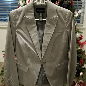 BANANA REPUBLIC Gray Blazer with Pinstripe.